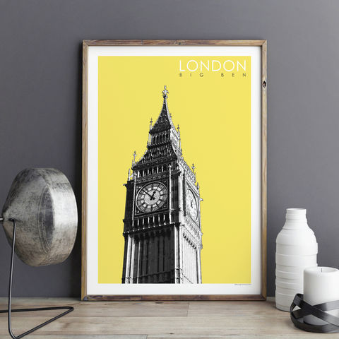 London,Art,Print,-,Big,Ben,Travel,Poster,Gift,London Art Print - Big Ben - Travel Poster - London Gift
