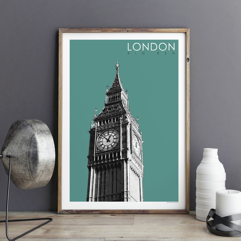 London Art Print - Big Ben - Travel Poster - London Gift - product images  of