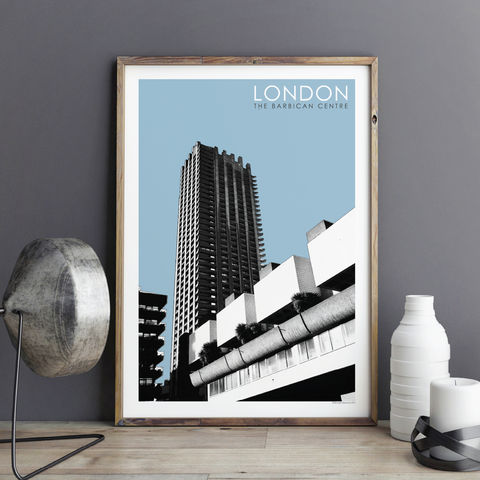 London,Prints,-,Barbican,Centre,london prints, london art, city prints, wall prints, brutalist architecture, barbican centre