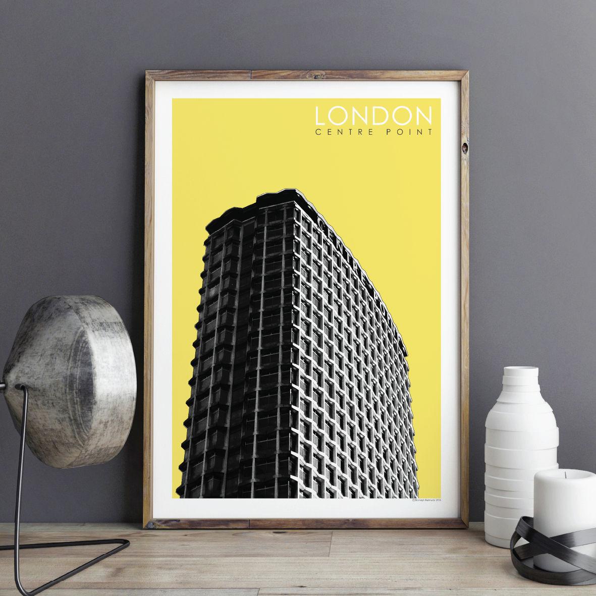 London Prints - Centre Point - BRONAGH KENNEDY ART PRINTS