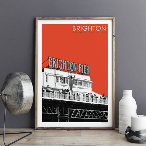 Brighton,Prints,-,Pier,bright prints, city prints, travel prints, art prints, brighton pier