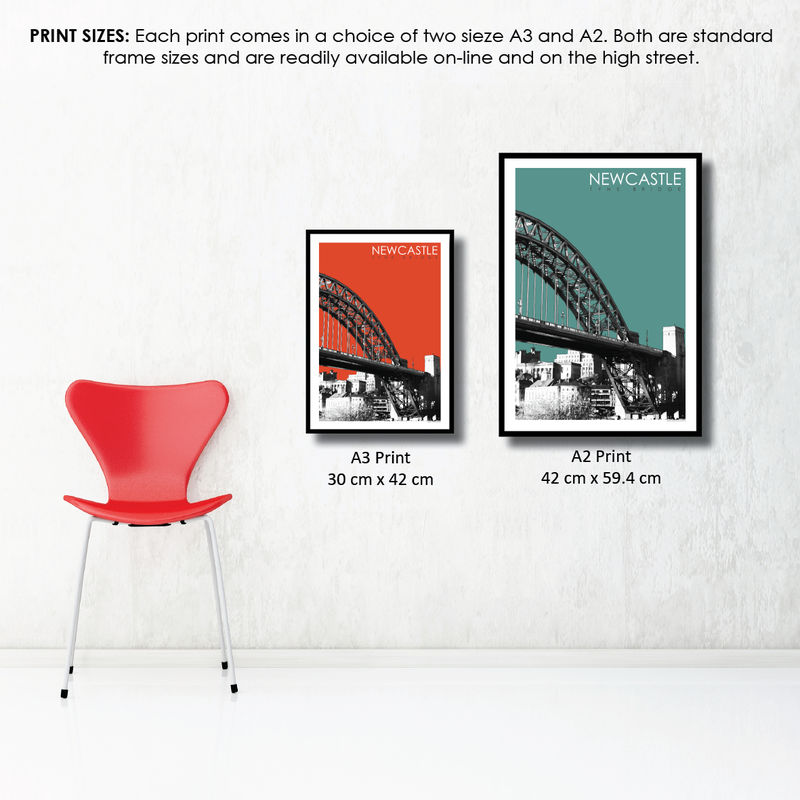 Newcastle Travel Prints - Tyne Bridge - product images  of