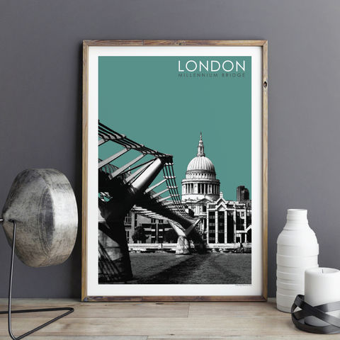 London,Prints,-,Millennium,Bridge,london prints, city prints, art prints, travel prints