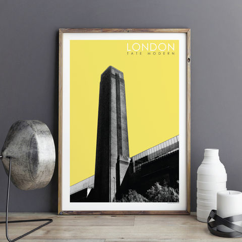 London,Prints,-,Tate,Modern,Travel,Poster,London prints, travel posters, architecture prints, London wall art