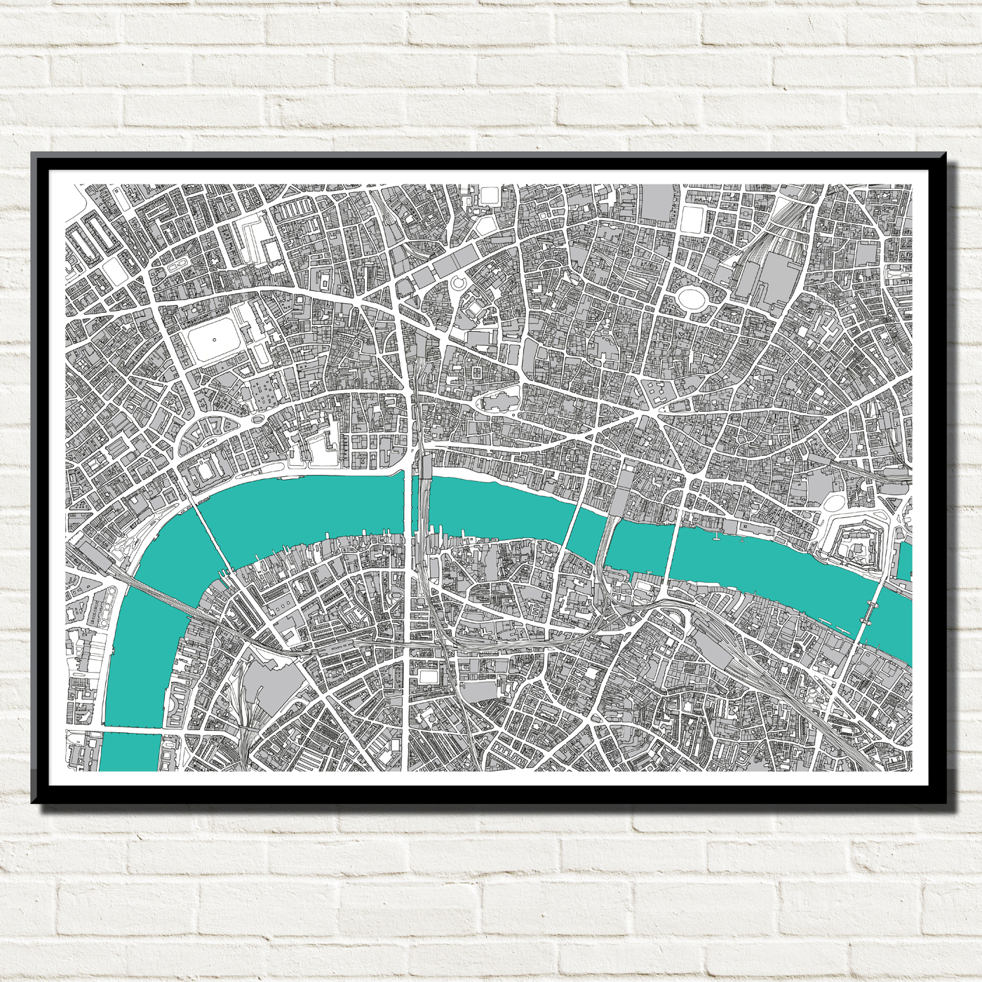 London Map Art Print Bronagh Kennedy Art Prints