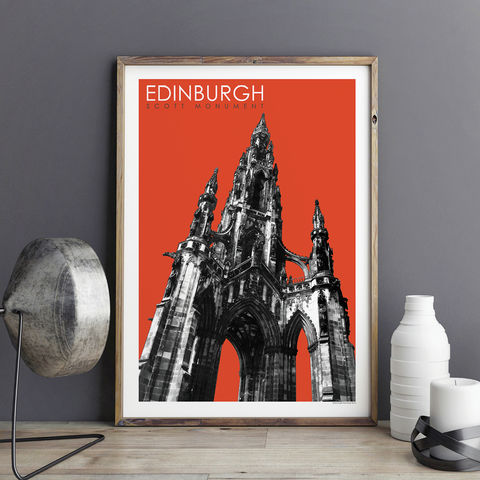 Edinburgh,Prints,-,Scott,Monument,Travel,edinburgh prints, travel prints, city prints, art prints, travel gifts