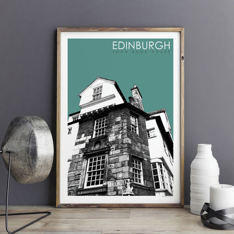 Edinburgh,Prints,-,John,Knox,House,Travel,edinburgh prints, travel posters, city prints, art prints, edinburgh skyline