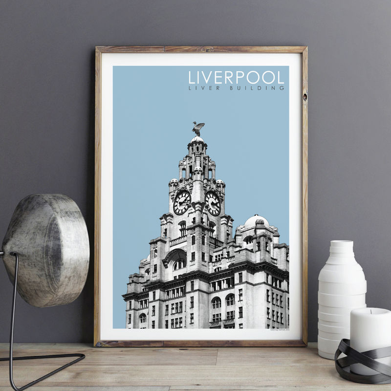 Liverpool Prints - Liver Building - Travel Posters - product images  of