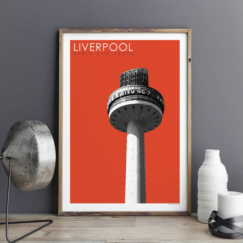 Liverpool Prints - Radio City - Travel Posters - product images  of