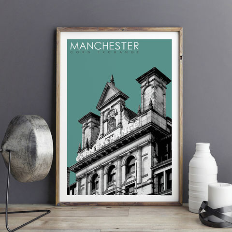 Manchester,Prints,-,Corn,Exchange,Travel,Posters,Manchester prints, travel posters, city prints, travel prints, Manchester Corn Exchange