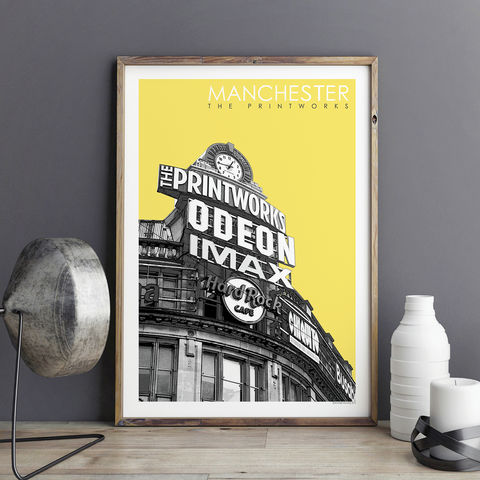 Manchester,Prints,-,The,Printworks,Travel,Posters,Manchester prints, travel posters, city prints, travel prints, Manchester Printworks