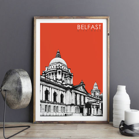 Travel,Prints,-,Belfast,City,Hall,Print,Travel prints, city prints, Belfast prints, art prints uk