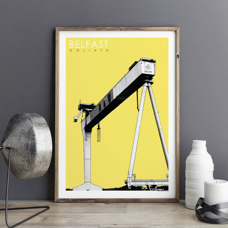 Travel Prints - Belfast Cranes - City Prints - product images  of