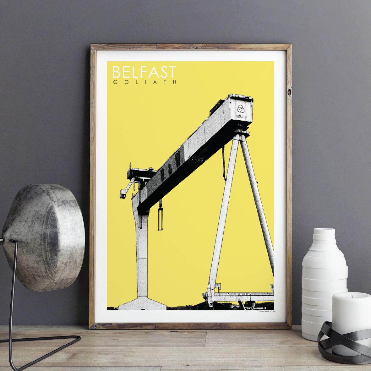 Travel Prints - Belfast Cranes - City Prints - BRONAGH KENNEDY ART ...