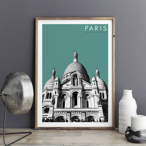 Paris,Prints,-,Sacre,Coeur,Travel,Posters,paris prints, travel posters, city prints, travel gifts, art prints, Sacre Coeur