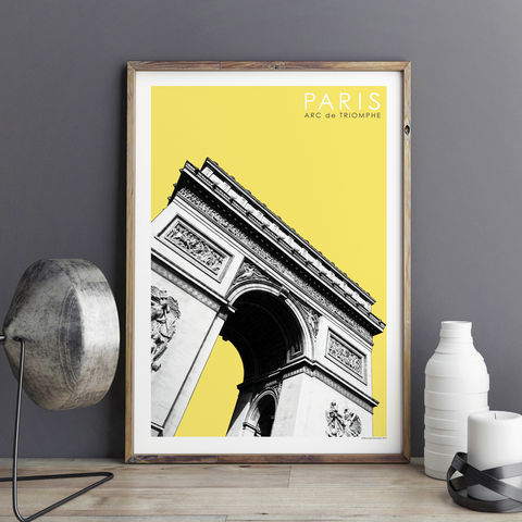 Paris,Prints,-,Arc,de,Triomphe,Travel,Poster,paris prints, travel poster, city prints, travel gifts, art prints, Arc de Triomphe
