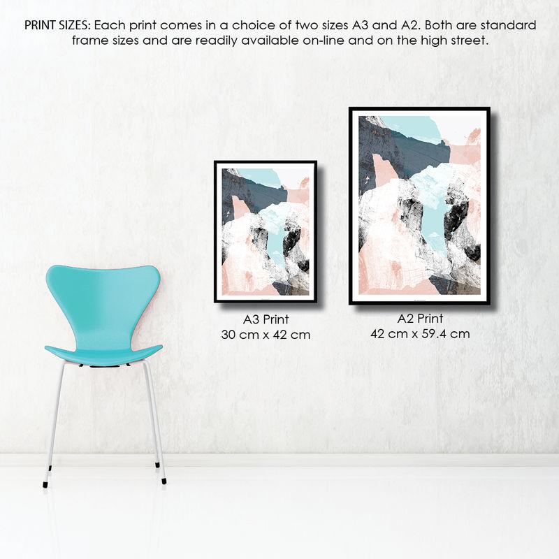 Beautiful Abstract Art Prints - Minimalist Fine Art Prints - Scandi Print  NW64