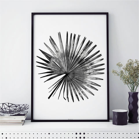 Black,and,White,Botanical,Art,Prints,-,Palm,Leaf,Print,Black and White Art, Botanical Art Prints, Palm Leaf Print