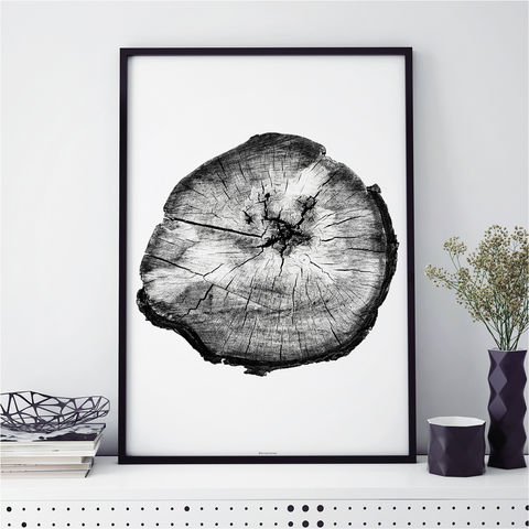 Botanical,Prints,-,Tree,Ring,Print,Monochrome,Art,botanical prints, monochrome art prints, tree ring print, minimalist art