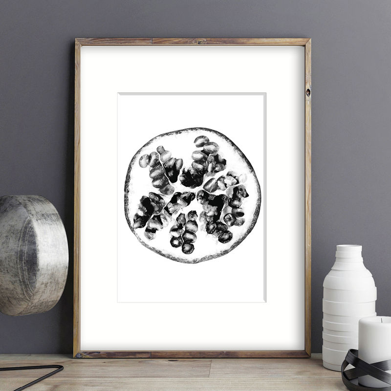 Botanical Prints - Pomegranate Art Prints - product images  of
