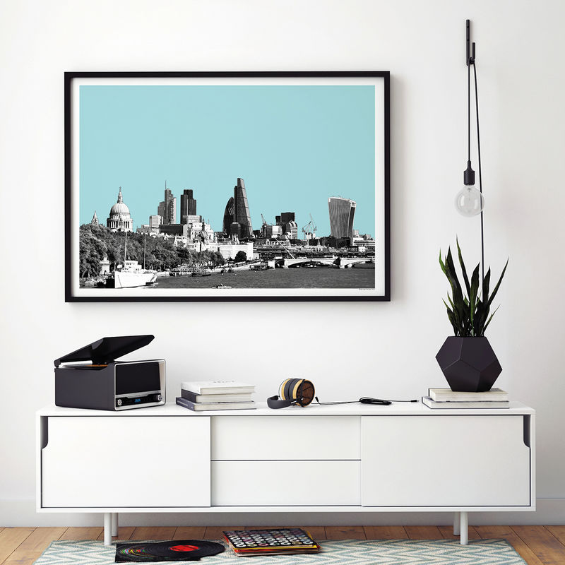 London City Skyline Art Print - View From Waterloo Bridge - product images  of
