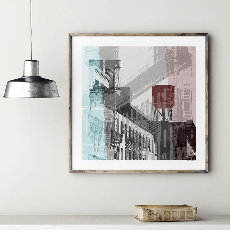 Abstract Cityscape Art Print - NYC No. 1 - product images  of