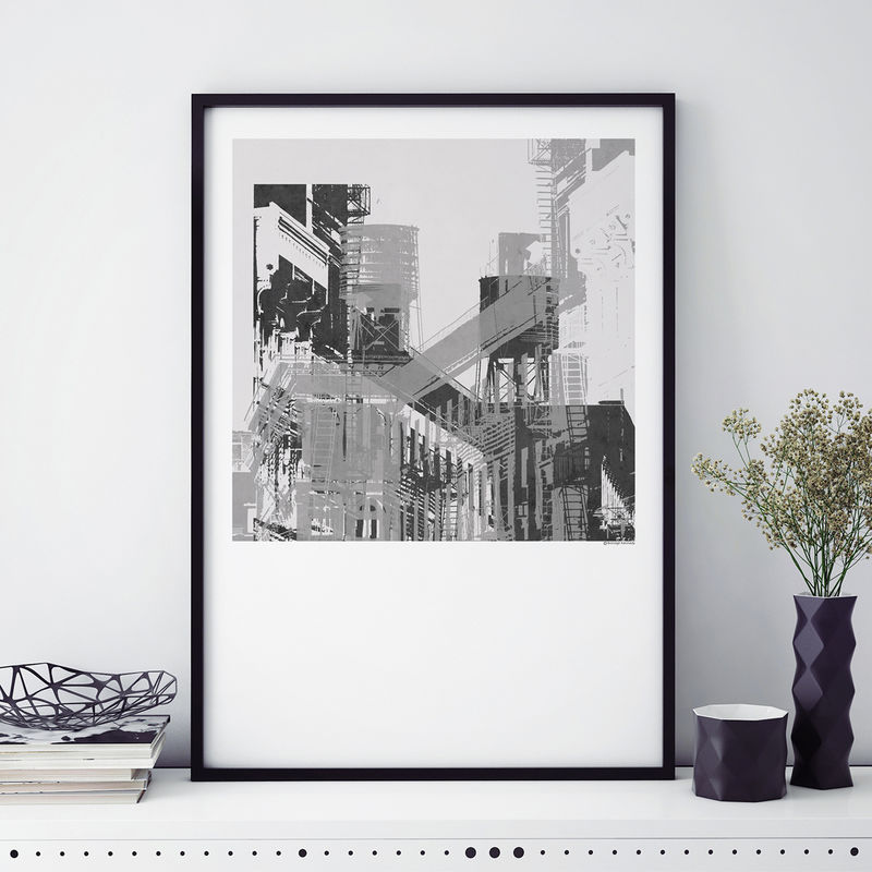 Abstract Art Print - New York City Cityscape No.2 - product images  of