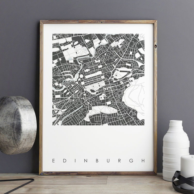 Edinburgh Map Art Prints - LIMITED EDITION PRINTS - product images  of