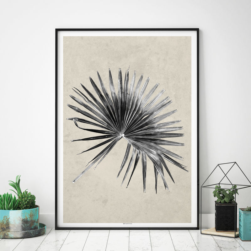 Set of 2 Tropical Art Prints - Palm Leaf Prints - Botanical Prints - Minimalist Prints - product images  of
