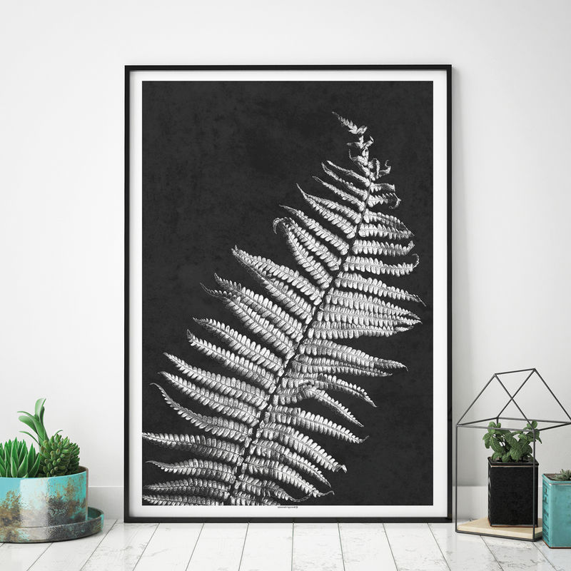 Botanical Prints - Set of 2 Prints – Minimalist Prints – Large Wall Art – Black and White Art Prints - product images  of