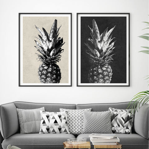 Tropical,Art,Prints,-,Pineapple,Set,of,2,Botanical,tropical art prints, pineapple prints, botanical prints, set of 2 art prints,