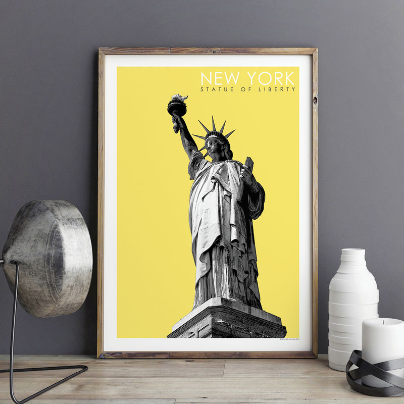 New York Art Print - Statue of Liberty Print - City Prints - Travel Poster - product images  of