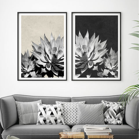 Set,of,2,Botanical,Art,Prints,-,Tropical,Print,Home,Decor,Set of 2 Botanical Art Prints - Tropical Print - Botanical Home Decor