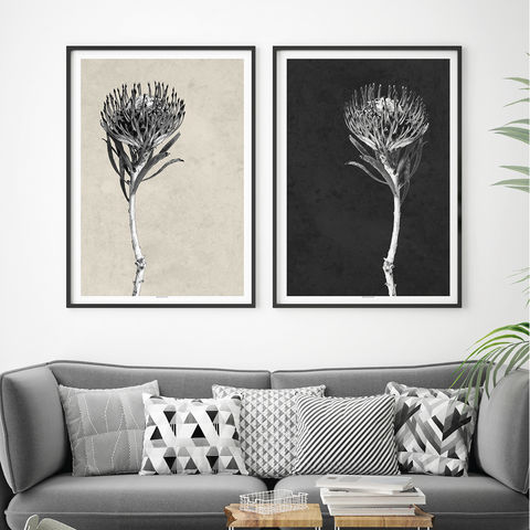 Set,of,2,Modern,Botanical,Art,Prints,-,Floral,Minimalist,Black,and,White,Set of 2 Modern Botanical Art Prints - Floral Prints - Minimalist Prints - Black and White Art