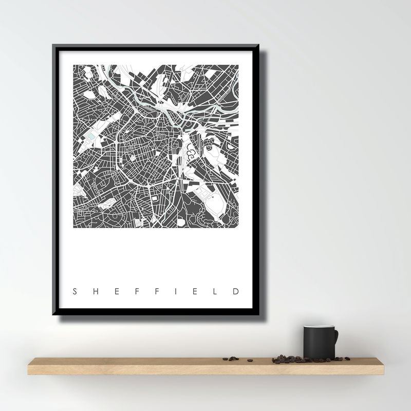 Sheffield Map Art Prints - Limited Edition Prints - Sheffield Themed Gift - product images  of