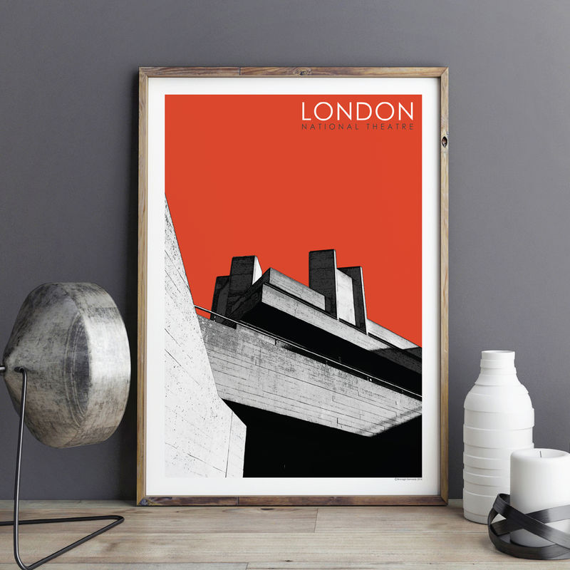 London Art Prints - National Theatre - City Prints - product images  of