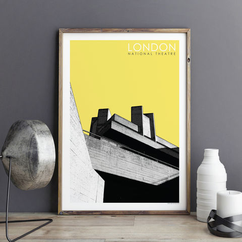 London,Art,Prints,-,National,Theatre,City,London prints, city prints, national theatre, architecture prints, London wall art