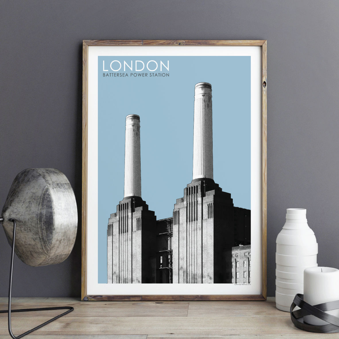 London Wall Art Print   Battersea Power Station   Travel Prints   City  Prints   London Gift