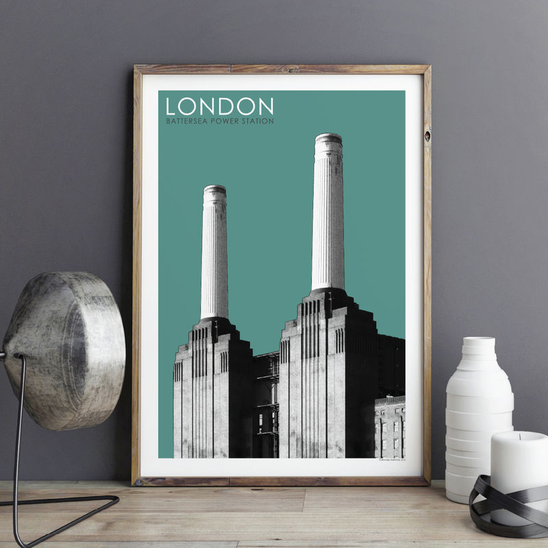 London Wall Art Print - Battersea Power Station - Travel Prints - City Prints - London Gift - product images  of