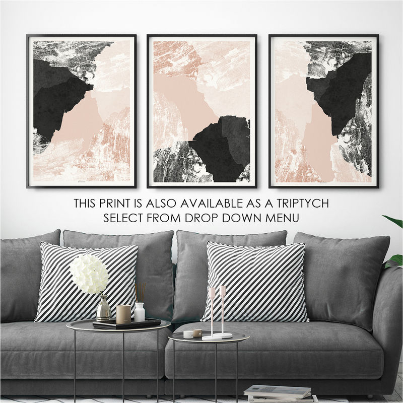 Modern Wall Art Print - Large Abstract Print - Living Room Art - product images  of