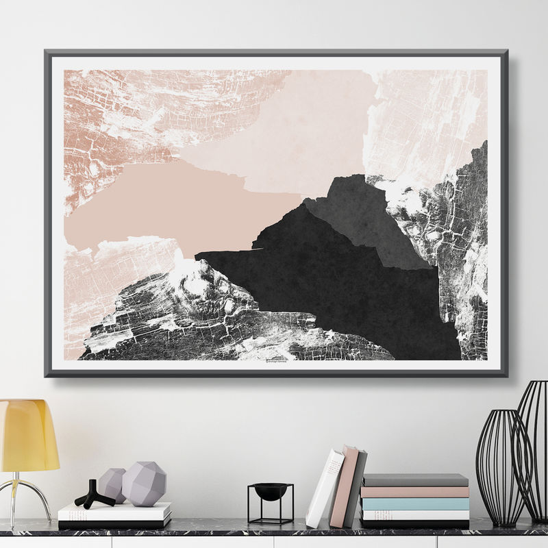 Large Abstract Wall Art Print - Minimalist Print – Modern Wall Art - Fine Art Print - Living Room Art  - product images  of