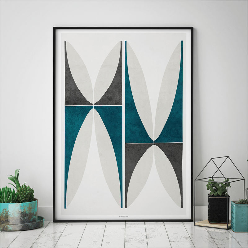 Abstract Geometric Wall Art Print – Large Wall Art - Fine Art Prints – Living Room Art Prints - product images  of