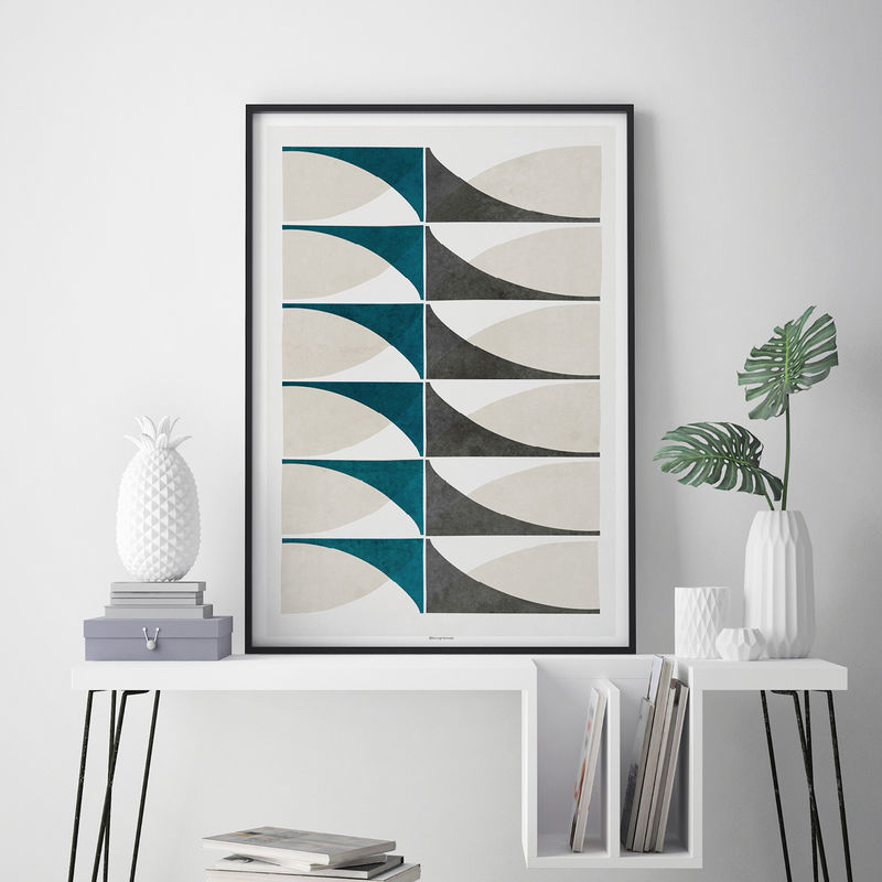 Geometric Wall Art – Abstract Art Prints – Living Room Prints – Minimalist Fine Art Prints  - product images  of