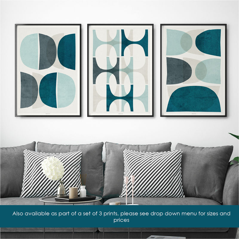 Contemporary Art Prints - Abstract Art Prints – Geometric Art Prints – Minimalist Wall Art - product images  of