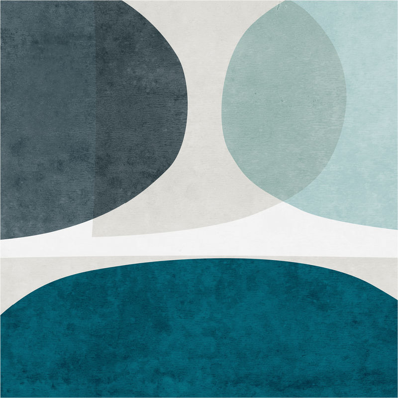 Minimalist Abstract Wall Art Print - Blue Abstract Art Print - product images  of
