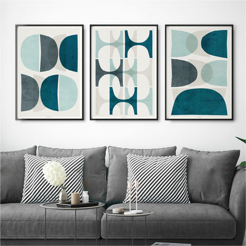 Set,of,3,Abstract,Prints,–,Blue,Wall,Art,Large,Set of 3 prints, set of 3 abstract prints, blue wall art, wall art prints, large wall art