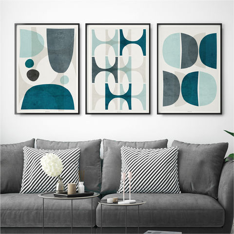 Set,of,Three,Prints,-,Blue,Abstract,Wall,Art,–,Large,Fine,set of three prints, set of 3 prints, blue abstract art, abstract wall art prints, large wall art