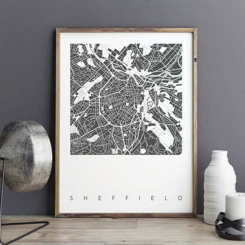 Map,Art,Print,-,Sheffield,Limited,Edition,map art print, sheffield prints, city prints, limited edition prints