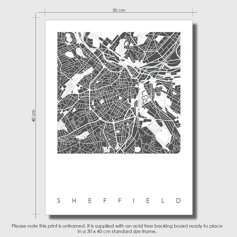 Map Art Print - Sheffield Map Print - Limited Edition Print - product images  of