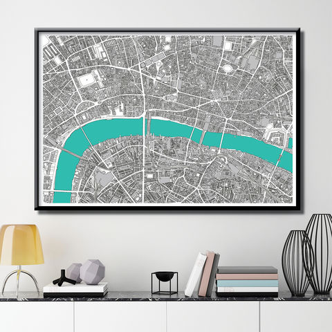 Map,Art,Print,-,London,Limited,Edition,Print-,Gift,map art print, london map print, limited edition print, London gift